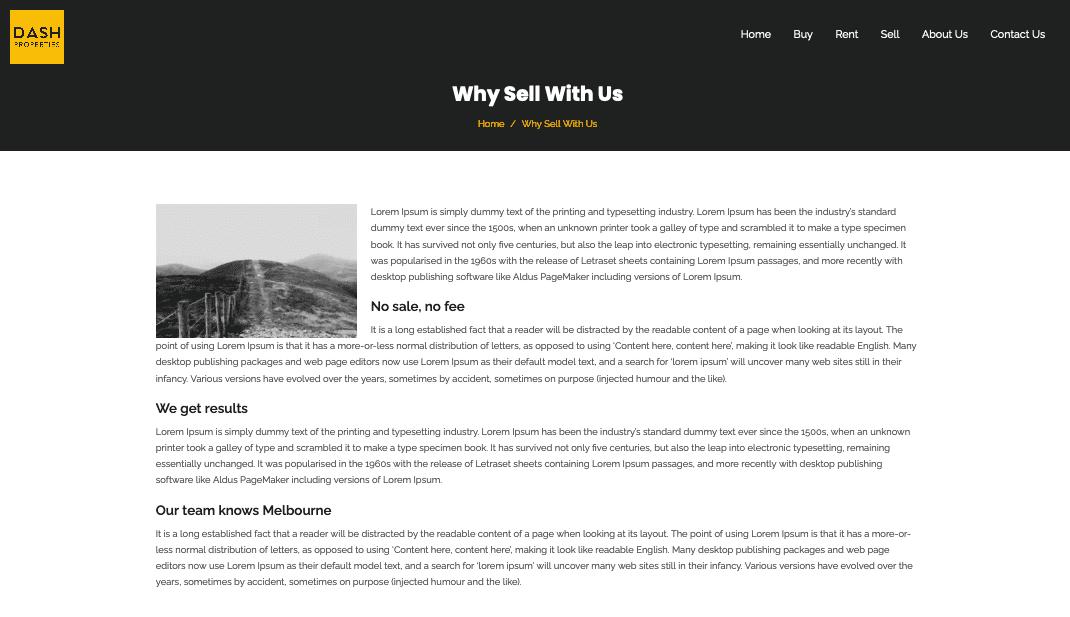 Dash Properties website
